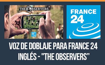 Tony fue actor de doblaje para el programa The Observers de France 24 (en su canal de televisión en inglés).