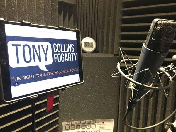 Leeds Voiceover Artist - Tony Collins Fogarty.  Own studio or available to attend in-person in Leeds.