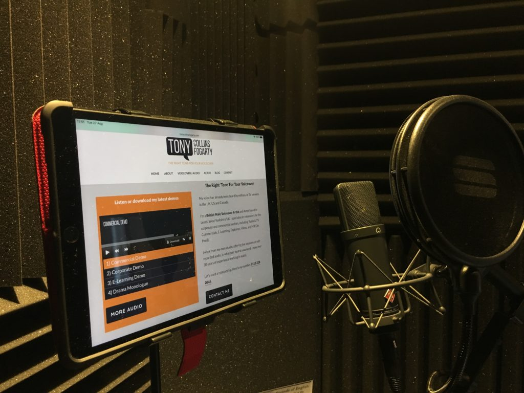 Live remote studio sessions with Tony Collins Fogarty - Native British Accent Voiceover Talent
