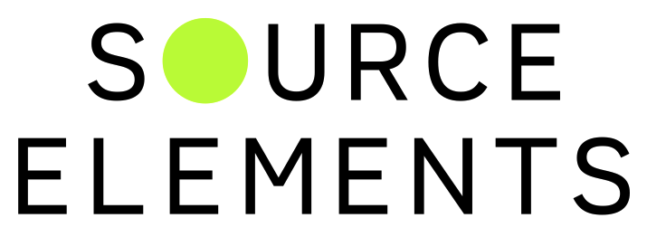 Source Elements Logo.  Source Elements run the Source Connect Standard and Source Connect NOW services for connecting to British Male Voiceover Tony Collins Fogarty.  Live sessions anywhere in the world.