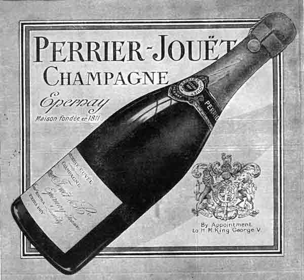 Perrier Jouet poster from 1811.  Tony was the E-Learning voiceover for an English version of GH Mumm's training.