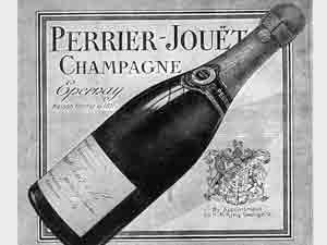 A vintage picture of Perrier Jouet - parent to GH Mumm, the champagne house where Tony featured as an E-Learning voiceover artist.